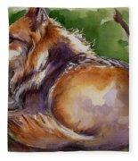 The Wolf Star Fleece Blanket