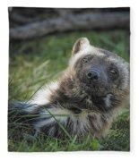 The Wolverine Skunk Bear Happy Face Fleece Blanket