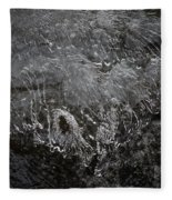 Ice Over The River Fleece Blanket