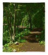 The Wooded Path... Fleece Blanket