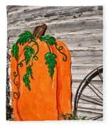 The Wooden Pumpkin Fleece Blanket