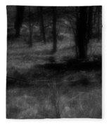 The Woods Are Lovely Dark And Deep Fleece Blanket