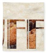 The Word Is Muffins Fleece Blanket