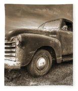 The Workhorse In Sepia - 1953 Chevy Truck Fleece Blanket