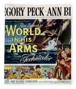 The World In His Arms 1952 Fleece Blanket
