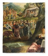 The Worship Of The Golden Calf Fleece Blanket