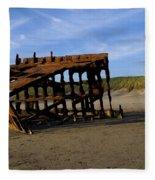 The Wreck Of The Peter Iredale - Oregon Fleece Blanket