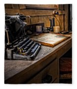 The Writer's Desk Fleece Blanket