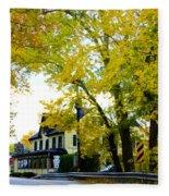 The Yardley Inn In Autumn Fleece Blanket