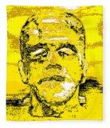 The Yellow Monster Fleece Blanket