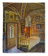 The Yellow Room At Fonthill Castle Fleece Blanket