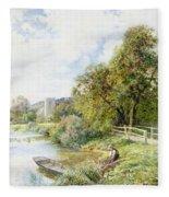 The Young Angler Fleece Blanket