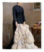The Young Widow, 1877 Fleece Blanket