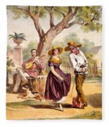 The Zapateado - National Dance, 1840 Fleece Blanket