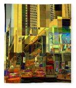 Theatre District - Neighborhoods Of New York City Fleece Blanket