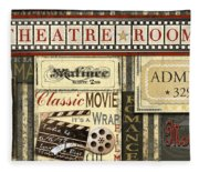 Theatre Room Fleece Blanket