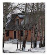 Thee Old Pink House Fleece Blanket