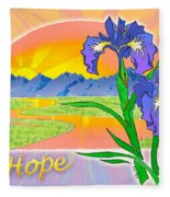 Themes Of The Heart-hope Fleece Blanket