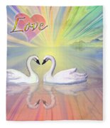Themes Of The Heart-love Fleece Blanket