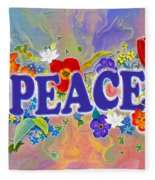 Themes Of The Heart-peace Fleece Blanket
