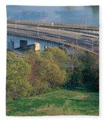 Theodore Roosevelt Bridge, Washington Fleece Blanket