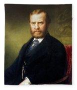 Theodore Roosevelt, Sr Fleece Blanket