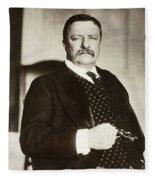 Theodore Roosevelt(1858-1919) Fleece Blanket