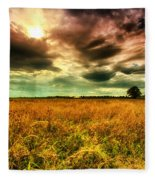 There Is A Sun After The Storm Fleece Blanket