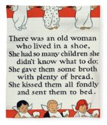 There Was An Old Women Who Lived In A Shoe Fleece Blanket