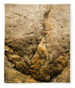 Theropod Dinosaur Footprint Fleece Blanket