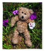 These Are For You - Cute Teddy Bear Art By William Patrick And Sharon Cummings Fleece Blanket