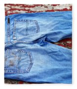 These Old Jeans Fleece Blanket