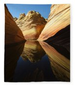 The Wave Reflected Beauty 1 Fleece Blanket