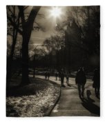 They Come To Central Park Fleece Blanket