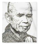 Thich Nhat Hanh Fleece Blanket