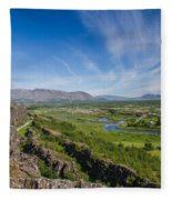 Thingvellir Iceland Fleece Blanket