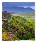 Thingvellir National Park Rift Valley Fleece Blanket
