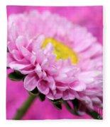 Think In Pink Fleece Blanket