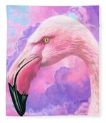 Think Pink Flamingo Fleece Blanket