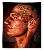 Thinking Man Fleece Blanket