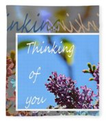 Thinking Of You 2 Fleece Blanket