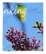 Thinking Of You - Greeting Card - Lilacs Fleece Blanket