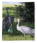 Thirsty Cranes Fleece Blanket