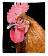 this Rooster Means Business Fleece Blanket