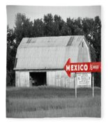 This Way To Mexico Fleece Blanket