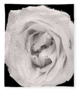 This White Rose Fleece Blanket