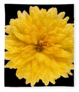 This Yellow Chrysanthemum Fleece Blanket