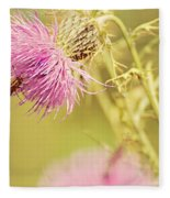 Thistle And Friend Fleece Blanket