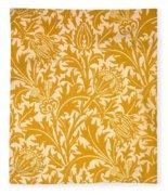 Thistle Wallpaper Design, Late 19th Fleece Blanket