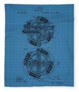 Thomas Edison Blueprint Phonograph Fleece Blanket